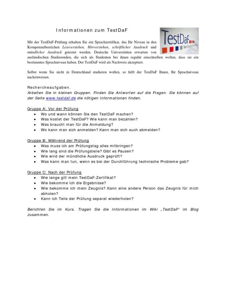 1536709169v1 - Testdaf Schriftlicher Ausdruck Beispiel