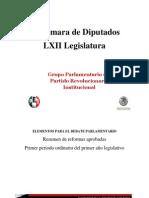 Resumen de reformas aprobadas - LXII Legislatura