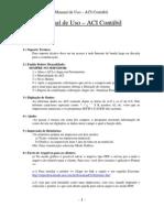 Manual de Uso ACI - Contabil