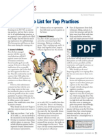 2013 To-do List for Top Practices