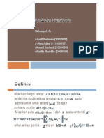 Integral Fungsi Vektor