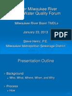 Upper Milwaukee River TMDLs