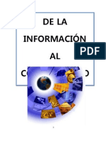 De La Informacion Al Conocimiento