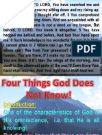 Four things God does not know
