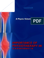 Importance of Physiotherapy in Haemophilia