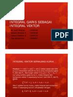 Integral Garis Sebagai Integral Vektor