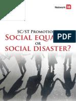 Social equality or social disaster