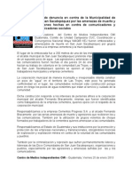 Carta de Denuncia en Contra de La Municipalidad de San Juan Sacatepequez