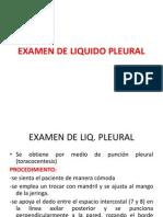 Examen de Liquido Pleural
