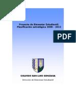 Proyecto Bienestar Estudiantil 2008-2012