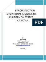situational anaylsis of children on street at patna
