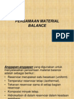 persamaan matrial balance