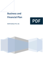 Buisness and Financial Plan