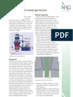optimization of waste gas burner