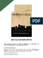 Kevin MacDonald, Die Kultur Der Kritik