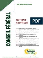 CF Motions Adoptees 012013