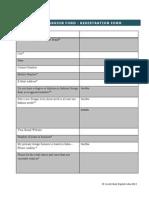 VFF 2013 Application Form