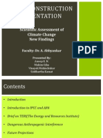 Assessment of Climate Change-New Findings
