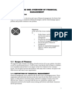 Financial management - Overview of financial management