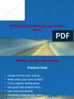 Writing and presenting your project report.ppt