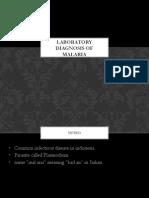 labaratory diagnosis of malaria