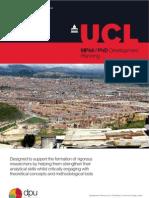 MPhil/PhD Development Planning at The Bartlett Development Planning Unit. University College London