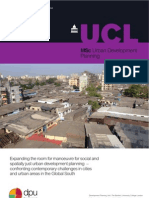 MSc Urban Development Planning at the Bartlett Development Planning Unit. University College London