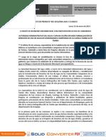 BOLETÍN DE PRENSA N° 05-2013
