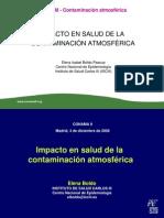 El Impacto en Salud de la Contaminación Atmosférica. CONAMA 9.
