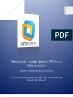 Manual de  instalación de VM ware Workstation