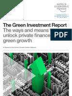 WEF GreenInvestment Report 2013