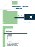 Generations of Computer Microprocessors