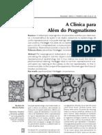 A Clinica Para_Alem Do Pragmatismo - Abrahao De_Oliveira Santos