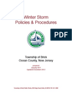 Brick Township Winter Storm Policies and Procedures