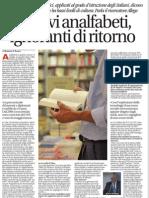 I Nuovi Analfabeti, Ignoranti Di Ritorno - Avvenire 25.01.2013
