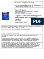 Angels of Us All? Football Management,