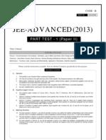JEE-ADVANCED_Part Test 1_Paper II-2013
