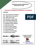 Glosario de términos lingüísticos y literarios