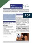 La lettre CQP 2013 de l'industrie du médicament