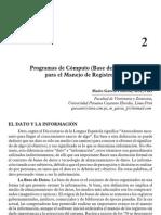 Programas de Computo Para El Manejo de Registros