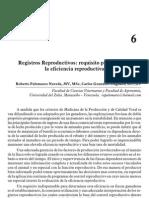 Registros Productivos Requisito Para Mejorar La Eficiencia Reproductiva