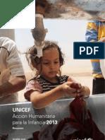 UNICEF - Acción Humanitaria en favor de la Infancia 2013