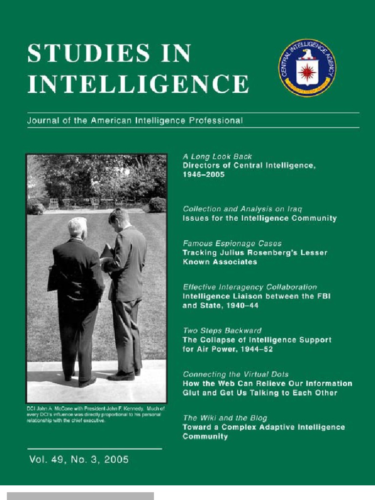 Studies Vol 49 No 3_book | Director Of Central Intelligence ...