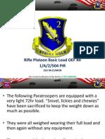 Rifle Platoon Basic Load OEF XII