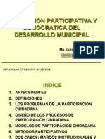 Planeacion Participativa y Democratica Del Desarrollo