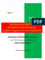 MASSAGE LICENSURE EXAMINATIONS MANUAL VOLUME 1 FREE COPY