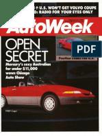 Autoweek 1988 Chicago auto show coverage