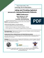 Understanding and Treating Agitated Behaviors Among Dementia PatientsWEB ConferenceDate