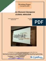Tokiko Ekonomi Garapena. EUSKAL ARAUDIA (Eus) Local Economic Development. BASQUE LAW (Basque) Desarrollo Económico Local. NORMATIVA VASCA (Eus)