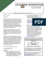 January 25, 2013 Newsletter